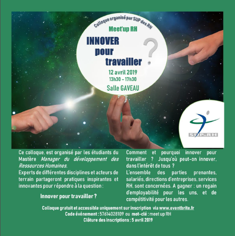 Meet up RH le 12 avril: Innover pour travailler?