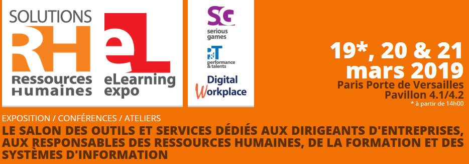 Le salon SOLUTIONS RH - E-LEARNING ET PERFORMANCE ET TALENTS 2019